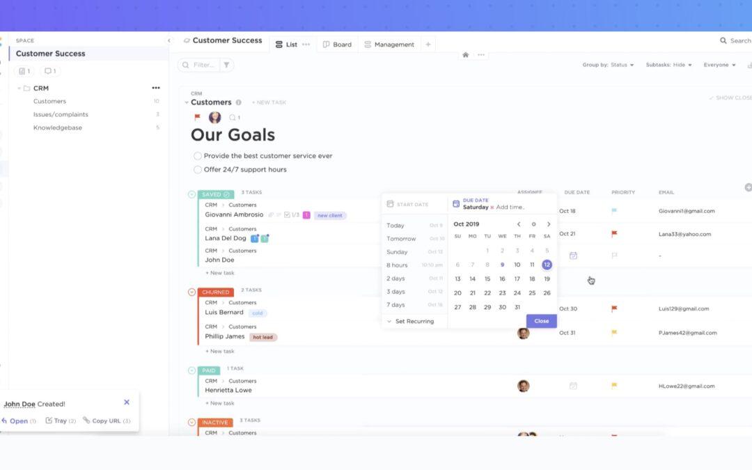 Performance platform ClickUp raises $35 million from Craft Ventures