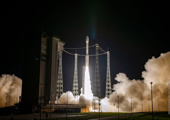European launch supplier Arianespace successfully launches a satellite rideshare presentation mission
