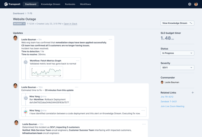 Transposit ratings $35M to build data-driven runbooks for faster disaster healing