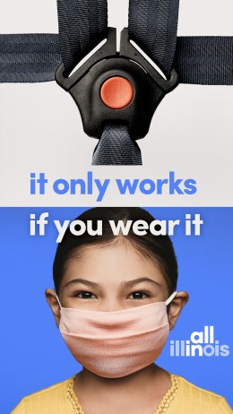 Illinois is taking a data-driven method to its mask-wearing ad campaign