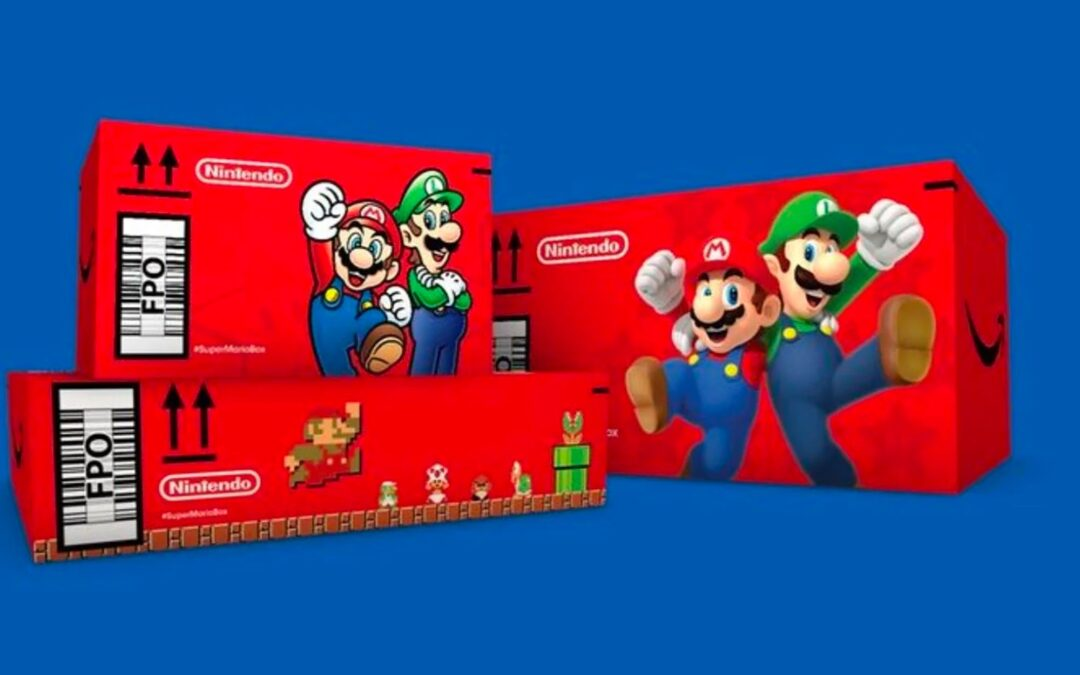 Amazon Is Arbitrarily Delivering Boxes in Mario-Themed Boxes
