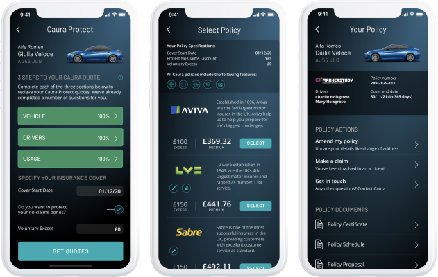 Caura, the app for U.K. car owners, starts offering insurance coverage