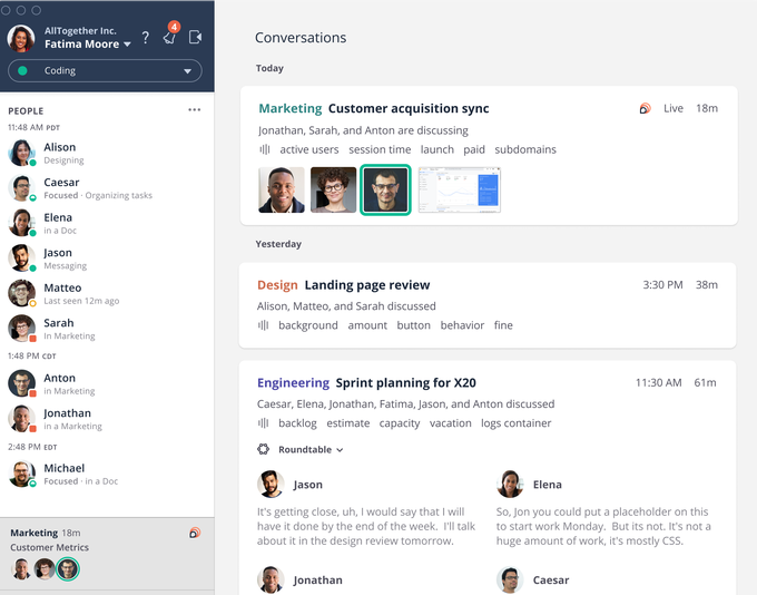 Loop Team wishes to provide remote employees an in-office feel