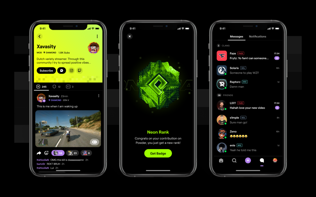Powder raises $14 million for its social app for game clips