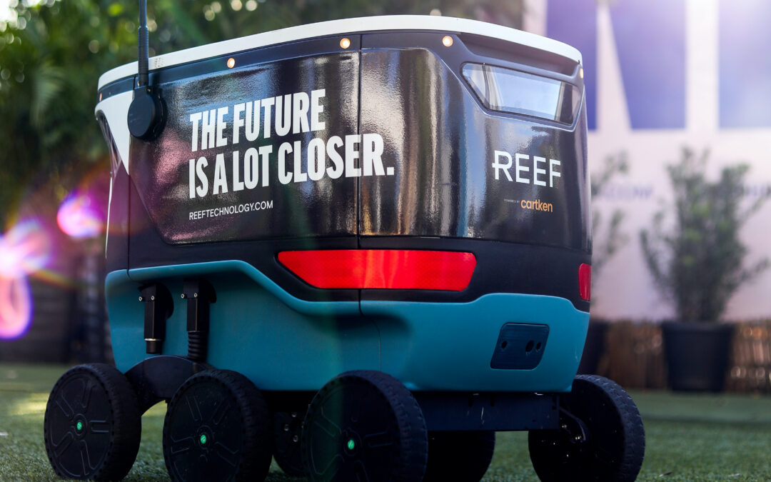 Google alum startup Cartken and REEF Technology launch Miami's first delivery robotics