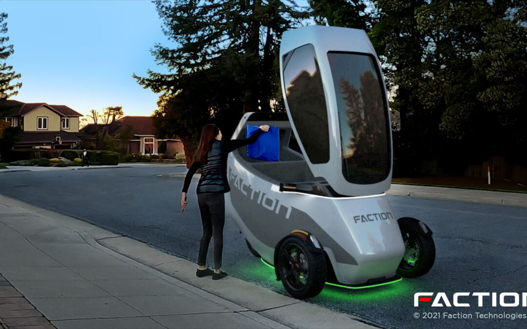 Faction raises $4.3 M to deploy 3-wheeled EVs for driverless delivery